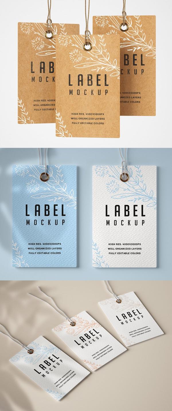 Paper & Kraft Label Mockup Set