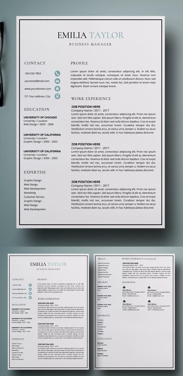 Resume | CV Template + Cover Letter