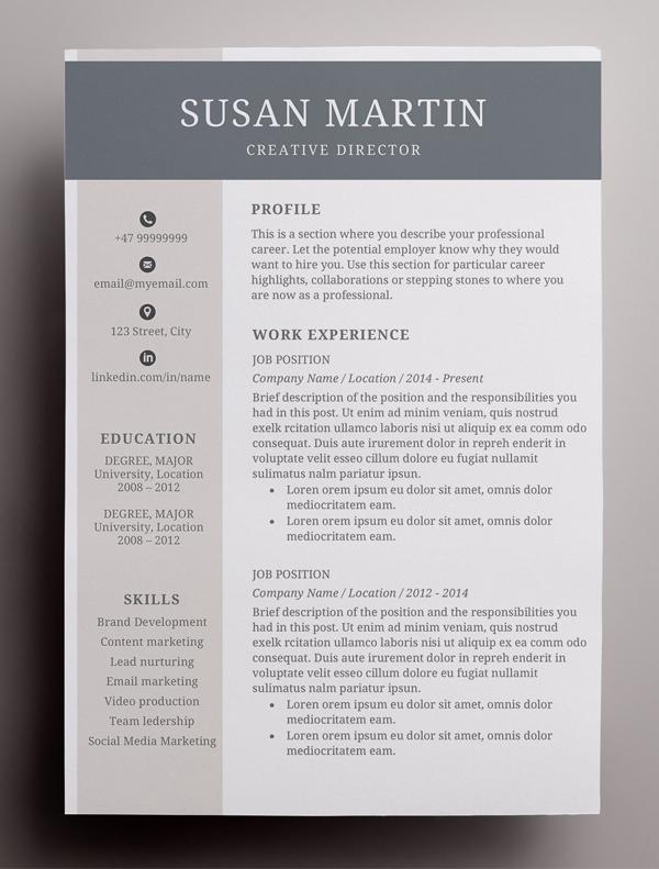 Simple Creative Resume Template / CV