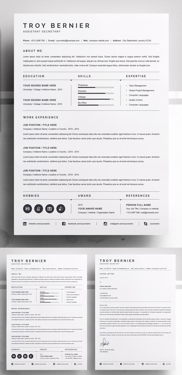 Elegant Clean Resume Template
