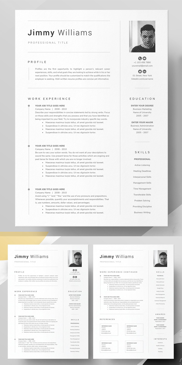 Word Pages Resume Template