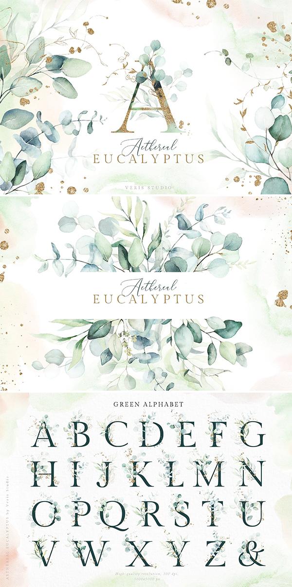 Aethereal Eucalyptus - Alphabet Gold