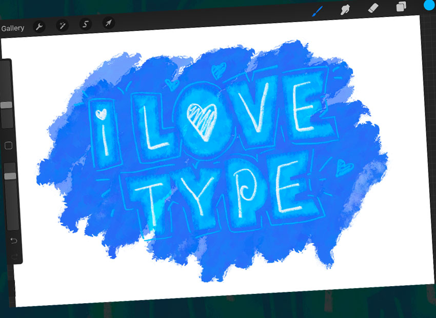 Procreate Font Demonstration