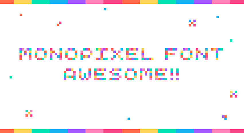 Mono Pixel Awesome Color Font