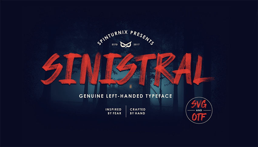 Sinistral  Hand-Written SVG Font - FREE Vector Version