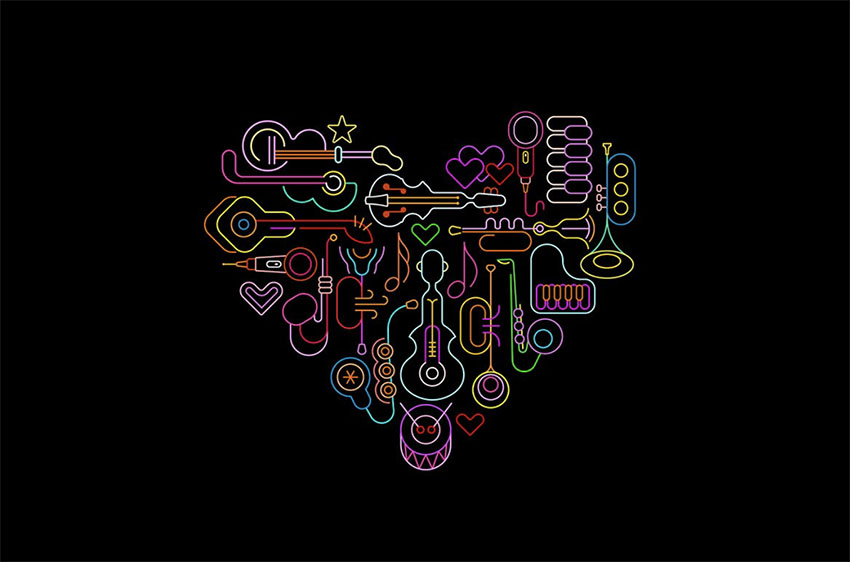 Musical Heart Art