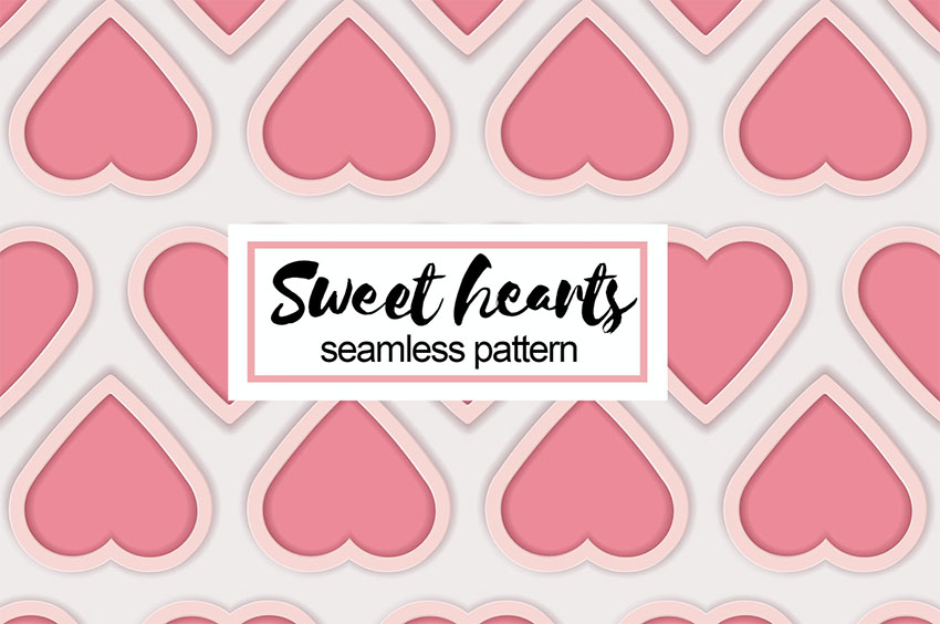 Sweet Hearts Seamless Pattern