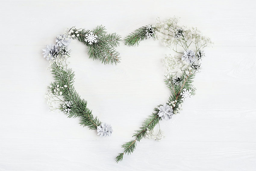 Christmas Wreath Heart Photo