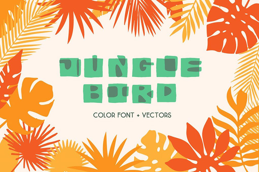 Jungle Bird Two Color Font