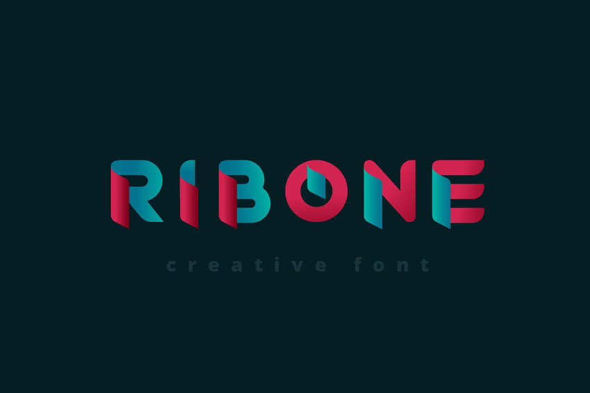 RibOne Two Color Font