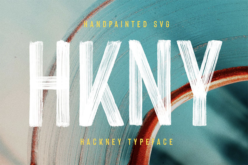 Hackney Hand-Painted SVG Font