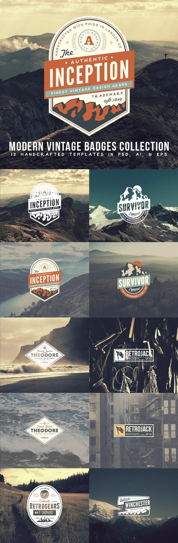 Modern Vintage Badges