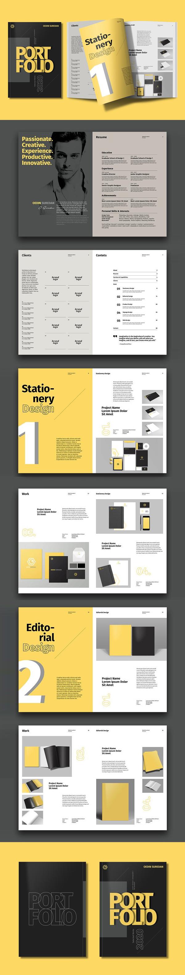 Personal Portfolio Catalog Design Template