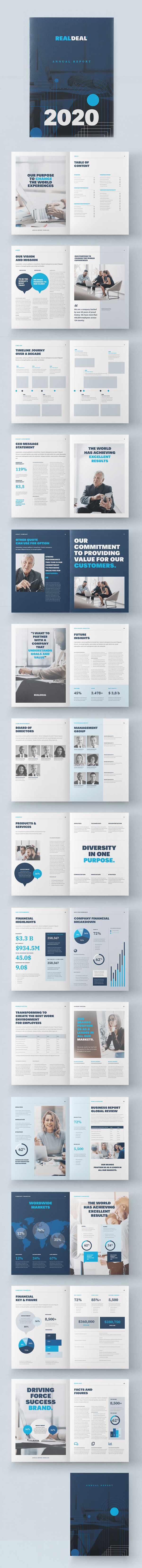Corporate Blue Annual Report Template