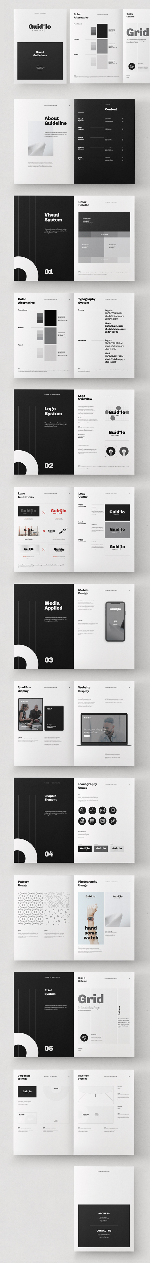 Brand Guideline Brochure InDesign Template