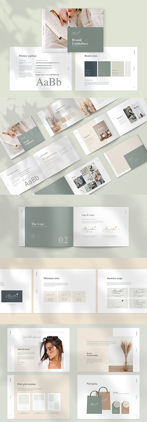 Brand & Logo Guidelines Brochure Template