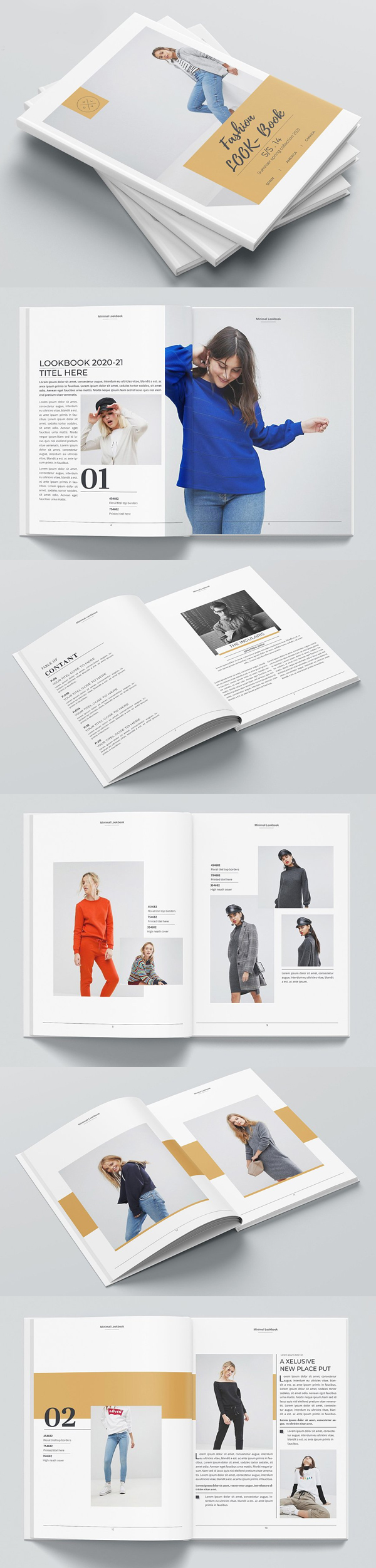 Fashion Look Book Catalog Template