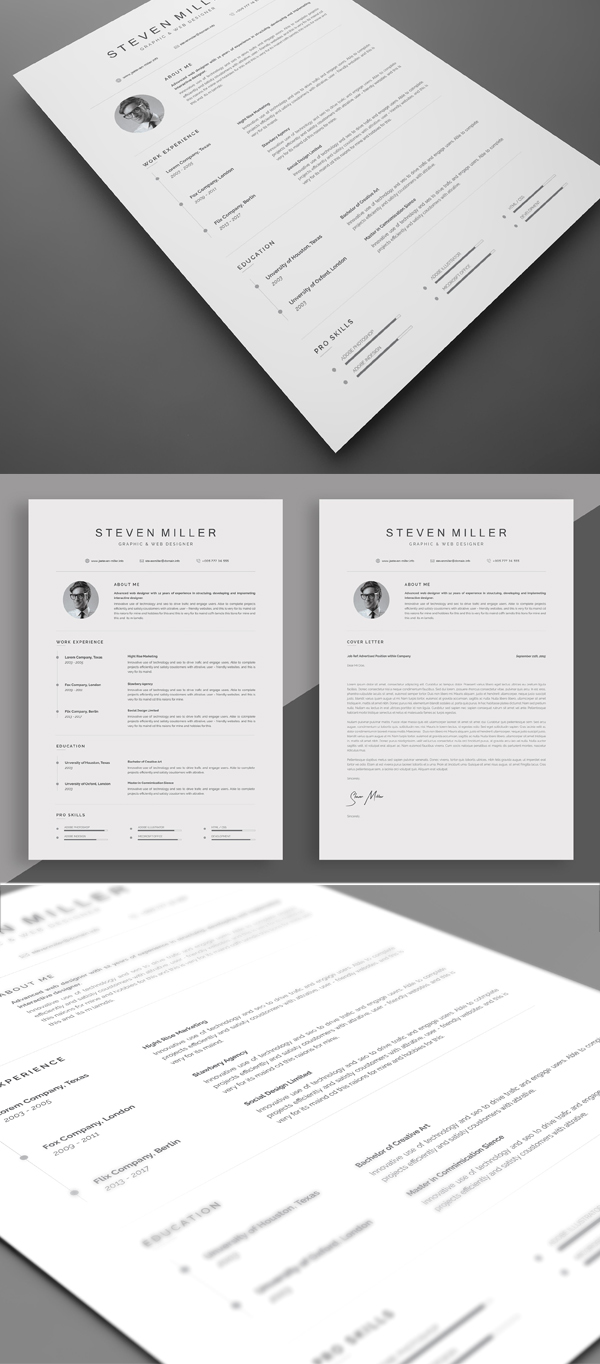 Attractive Resume Tempalte