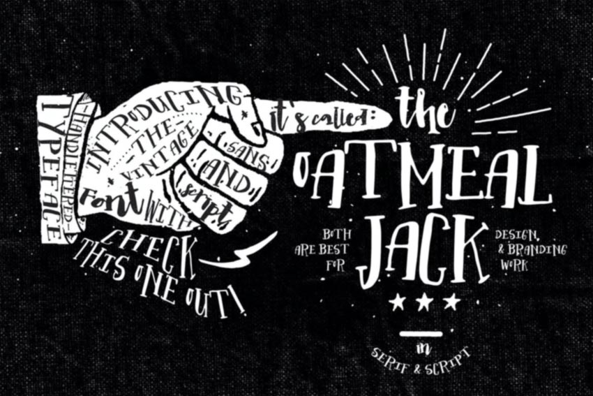 Oatmeal Jack Serif and Script Font