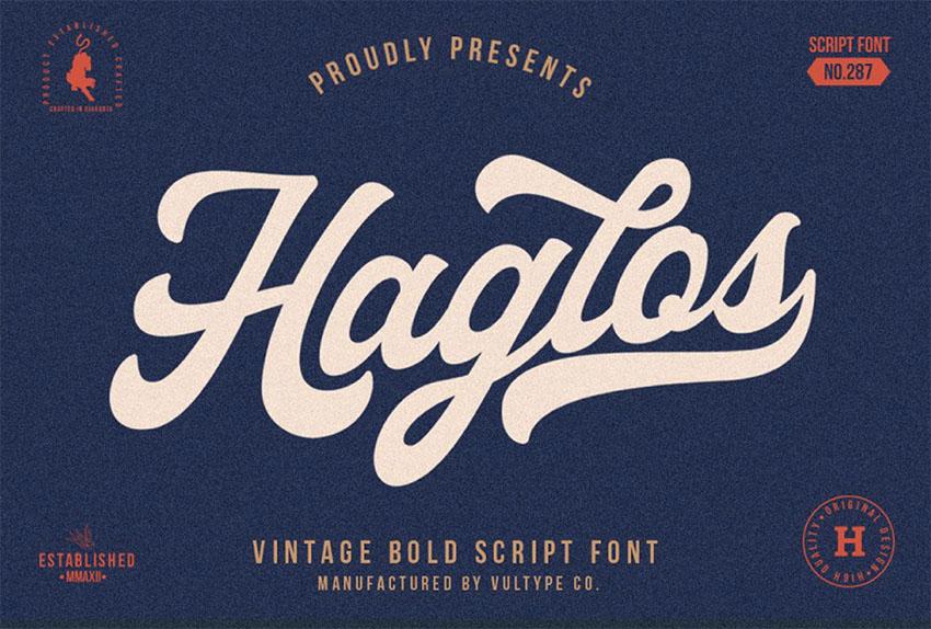 Haglos Vintage Script Font