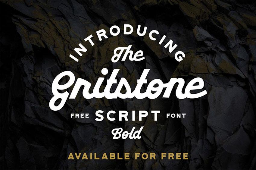 Gritstone vintage script font