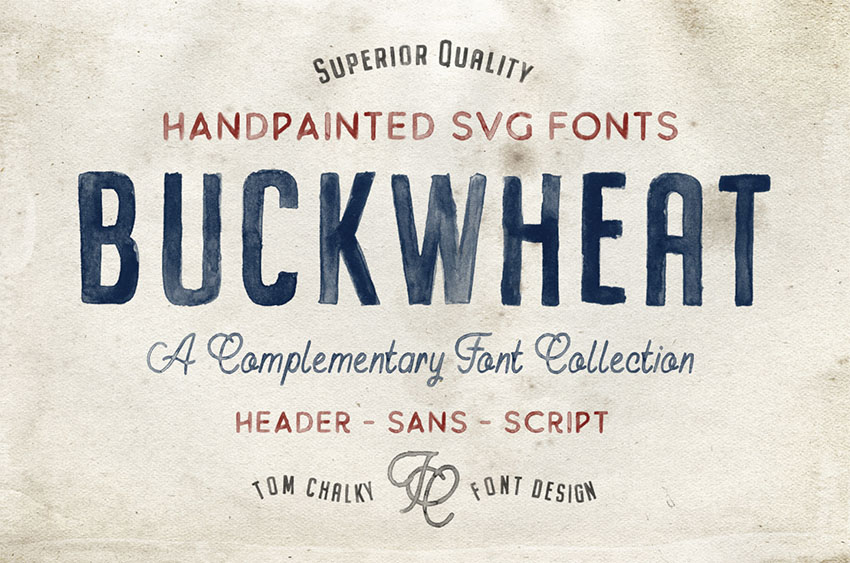 Buckwheat vintage sign fonts