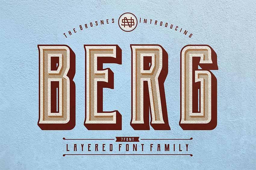 Berg free vintage fonts