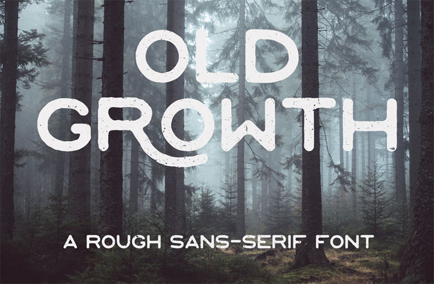 Old Growth vintage font