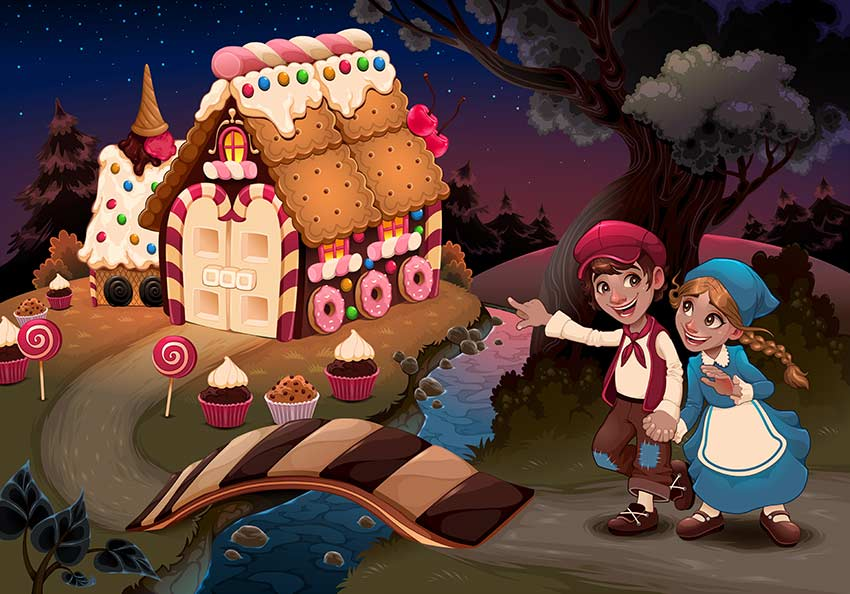 Hansel and Gretel Near the Candy House