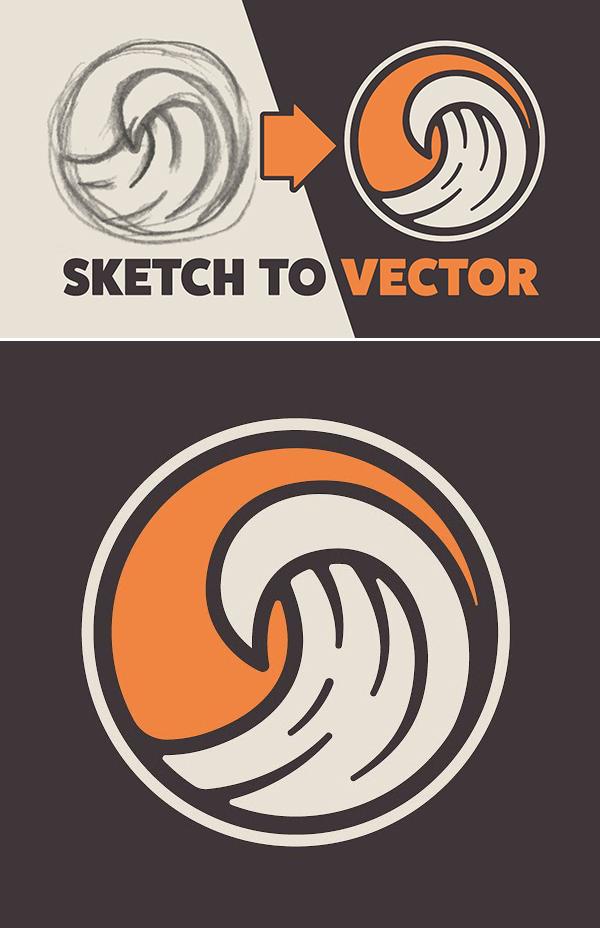 Illustrator Tutorial: Create a Vector Logo from a Rough Sketch