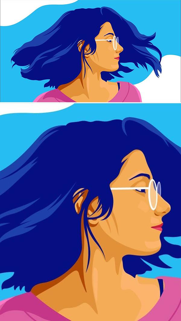How to create Portrait Flat Illustration based on photo in Adobe Illustrator