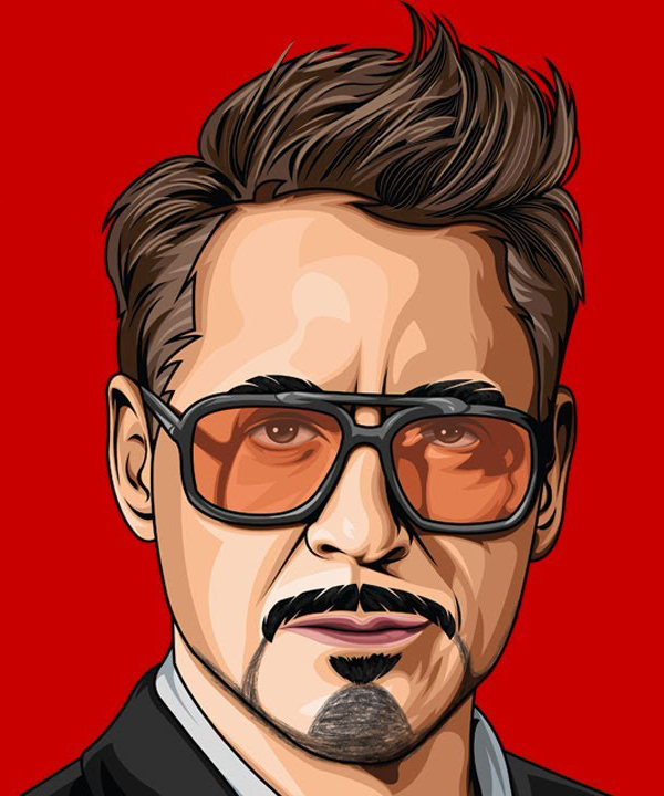 How to Draw Robert Downey Jr. Vector Portrait in Adobe Illustrator CC