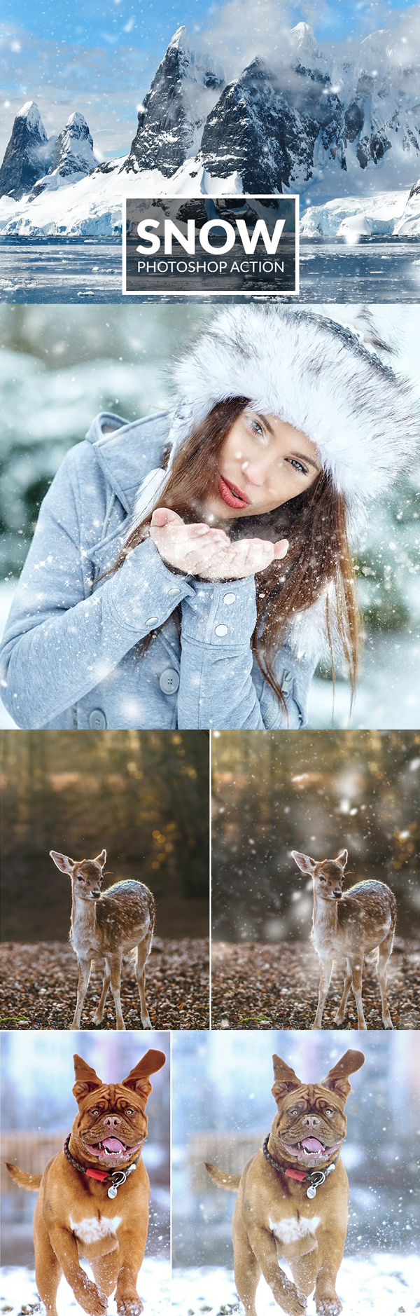 Realistic Snow Photoshop Action