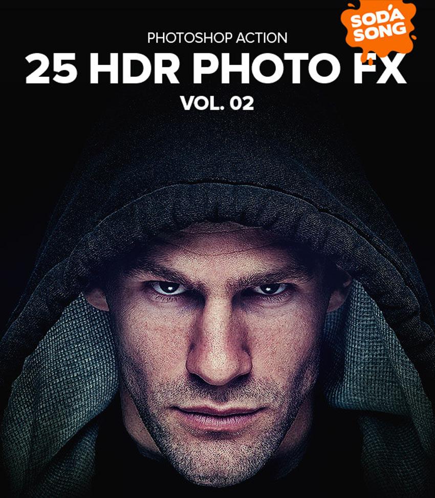 25 HDR Photo FX V2 - Photoshop Action