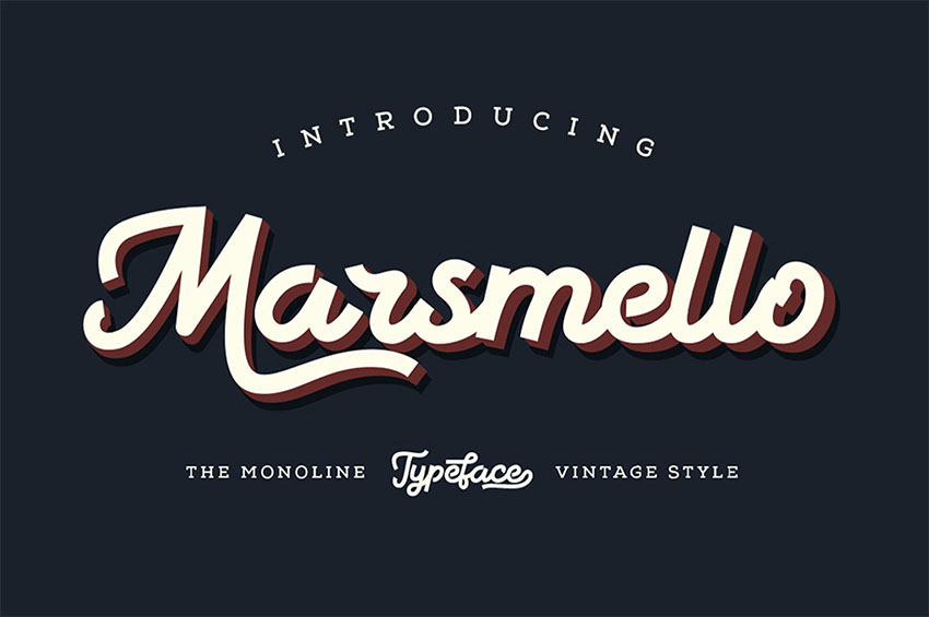 Marsmello Vintage Sign Font