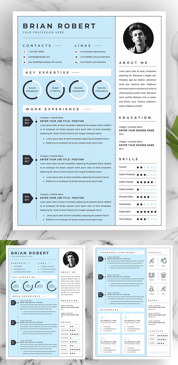 Simple Creative Resume / CV Template
