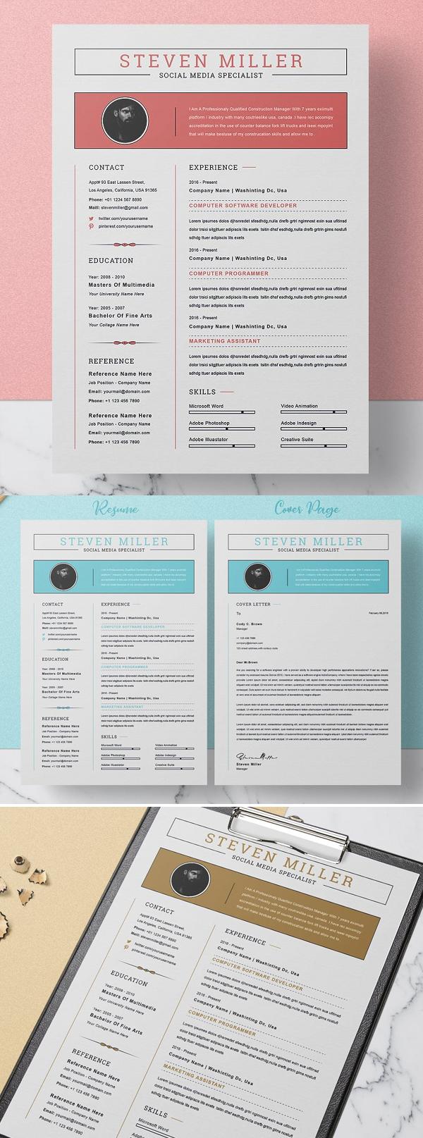 Stylish Resume Template / CV
