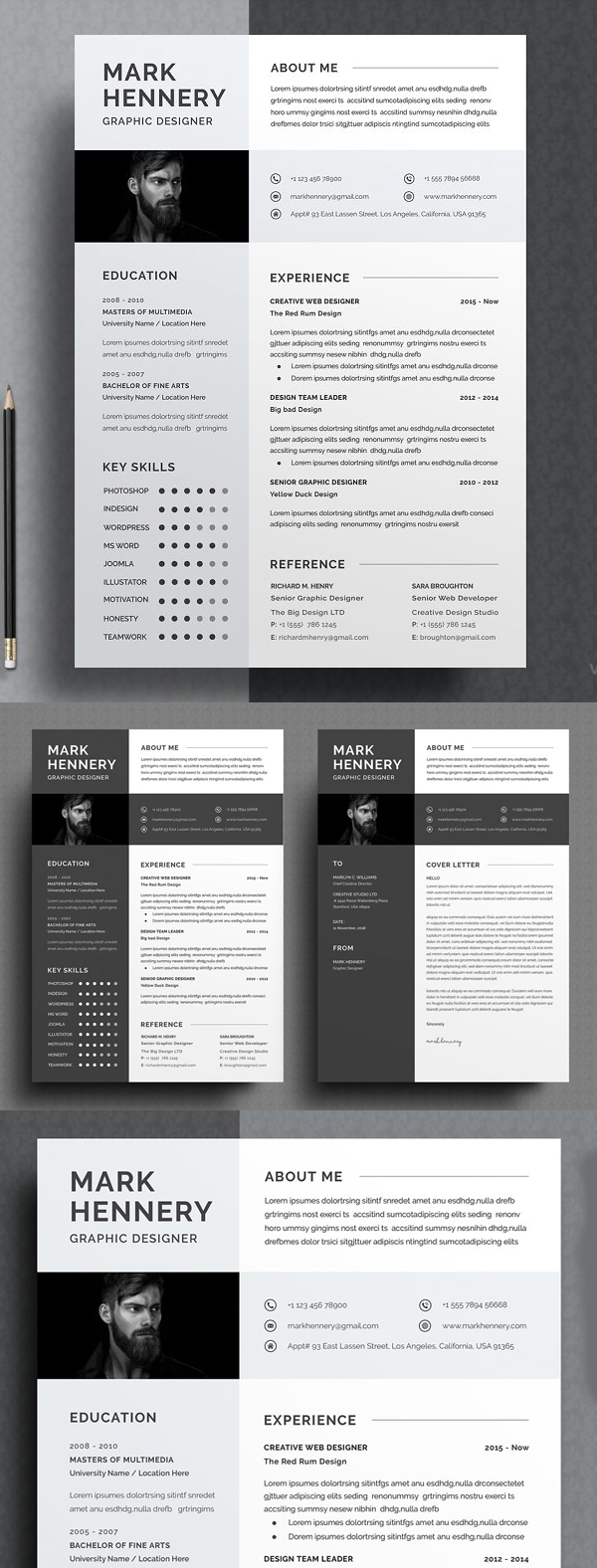 Simple Clean Resume Word Template