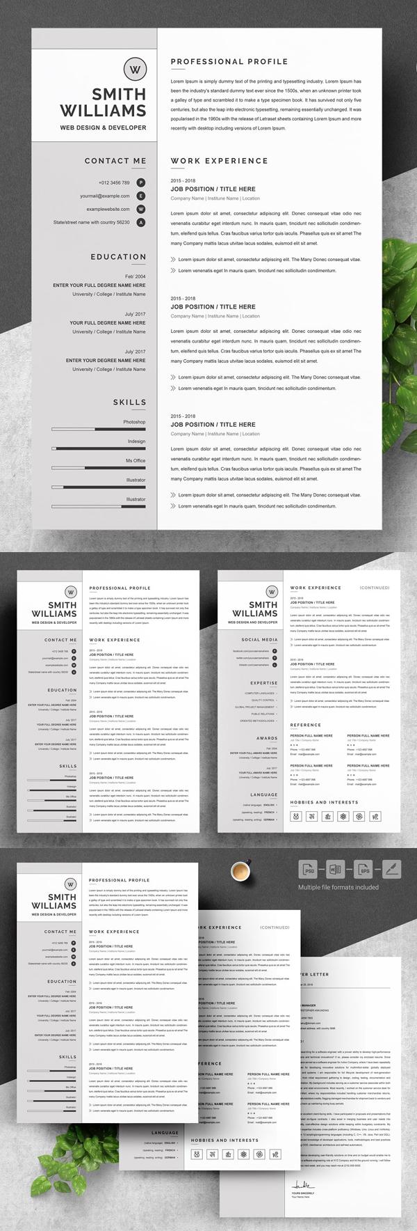 Resume Template / Curriculum Vitae