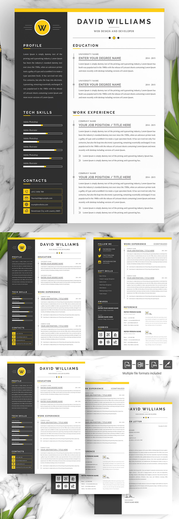 Word Resume & Cover Letter Template