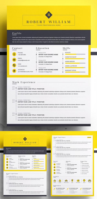 Modern Resume Template | Minimal CV