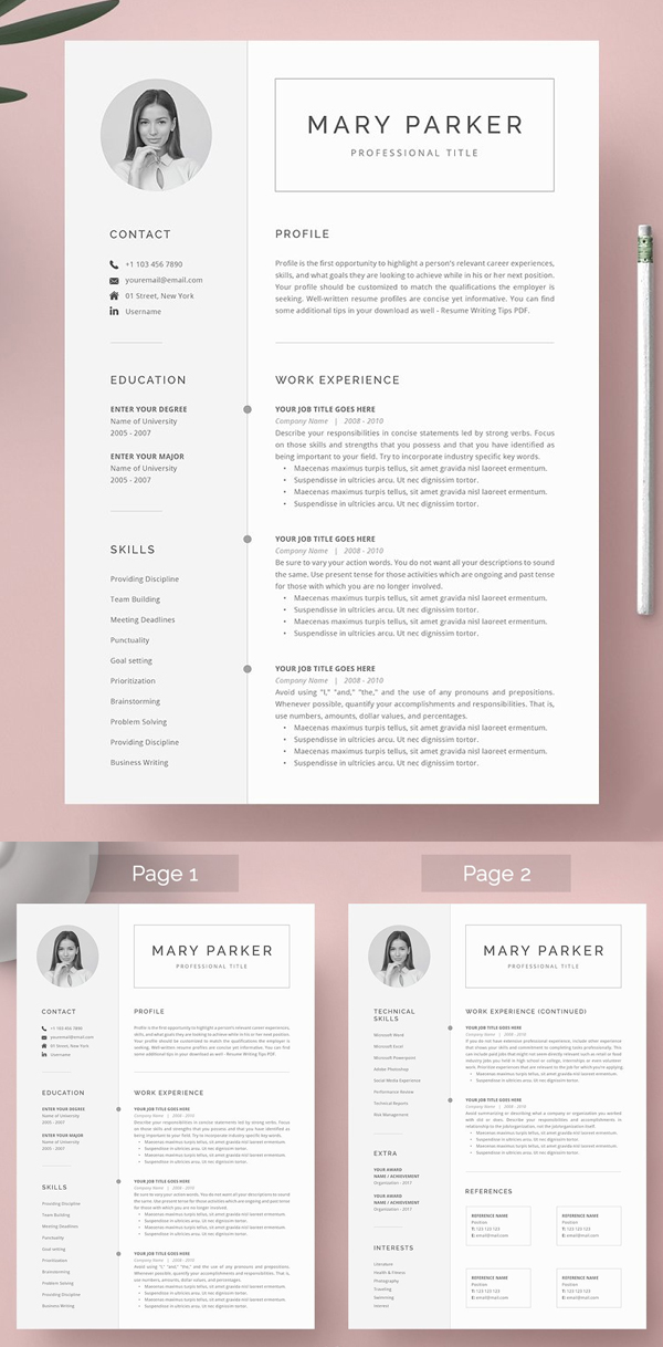 Word Resume Template 2007 from cdn.idevie.com