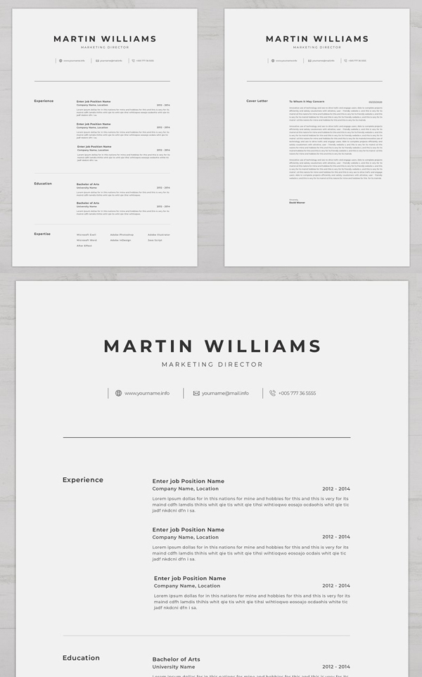 Clean Modern Resume Template