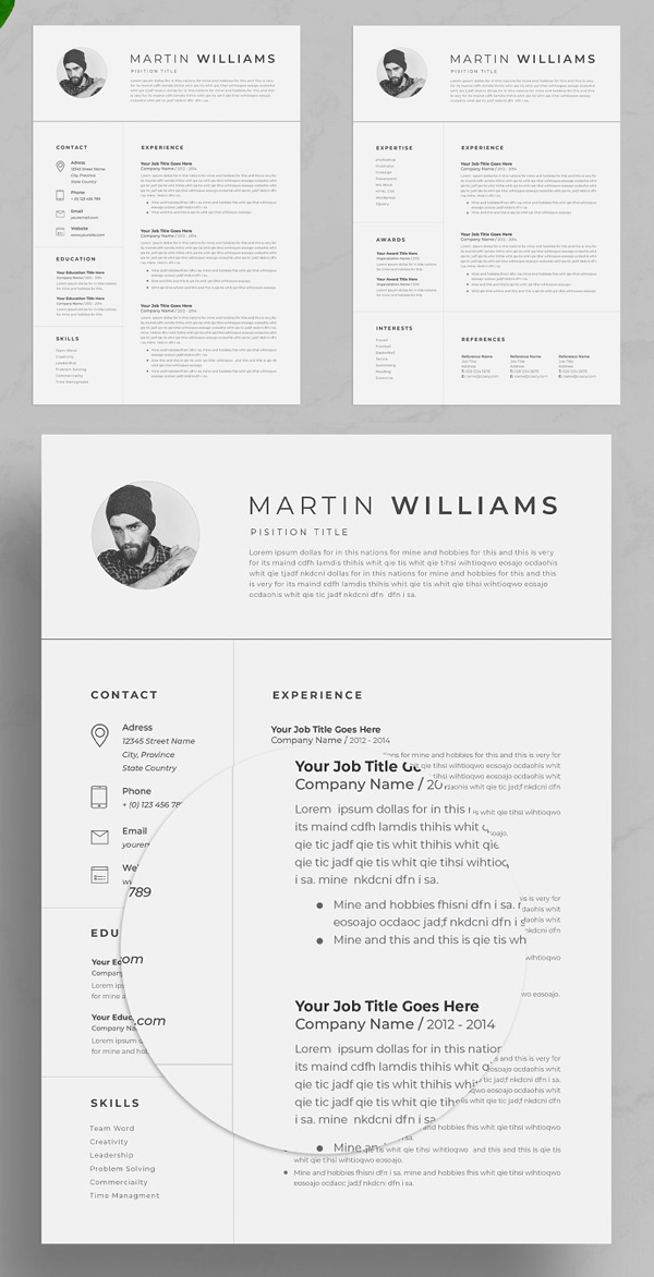 Simple Resume Template / CV