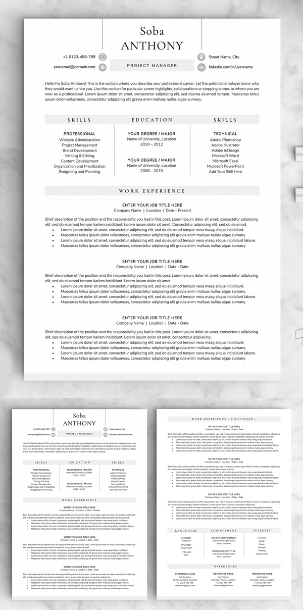 Resume / CV - The Soba