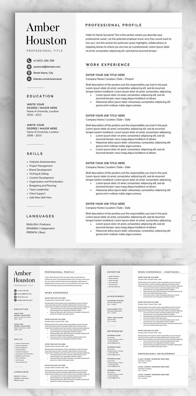 Resume / CV - The Amber