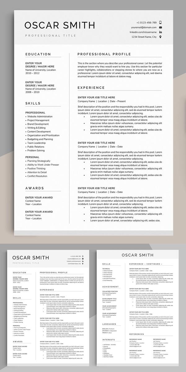 Resume / CV Template - OSCAR