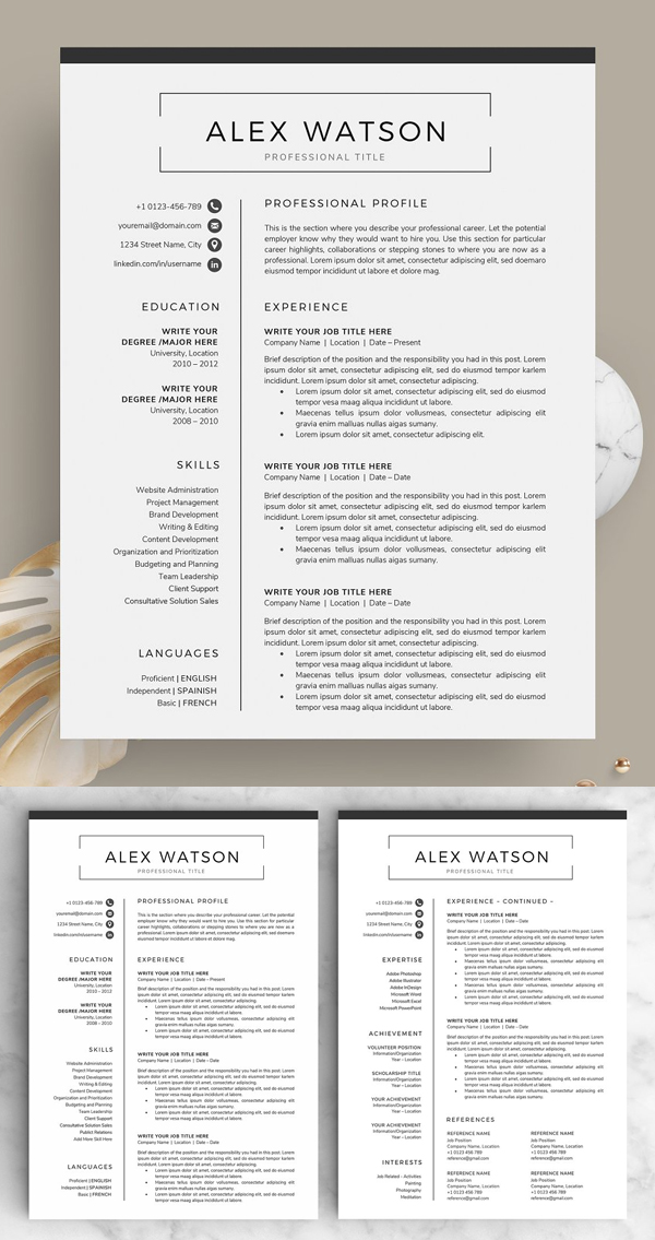 Resume / CV - The Alex