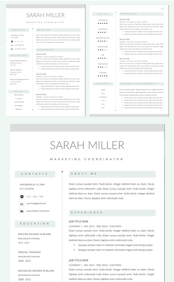 Clean Resume CV Template & Cover Letter