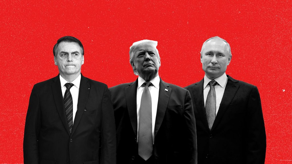 Image caption: Bolsonaro, Trump, Putin. Their currency is emotion—and we're buying. Image credit: CNN.com